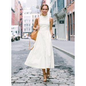 💙 Armani Exchange NAVY Pleated A-Line Midi Dress
